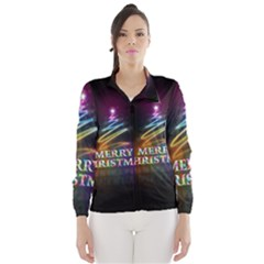 Merry Christmas Abstract Wind Breaker (Women)