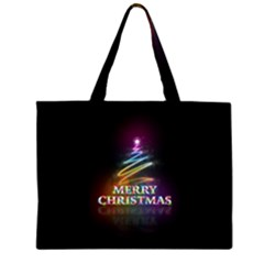Merry Christmas Abstract Large Tote Bag