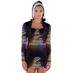 Merry Christmas Abstract Women s Long Sleeve Hooded T-shirt