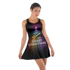 Merry Christmas Abstract Cotton Racerback Dress