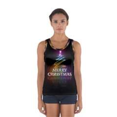 Merry Christmas Abstract Women s Sport Tank Top