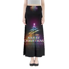 Merry Christmas Abstract Maxi Skirts