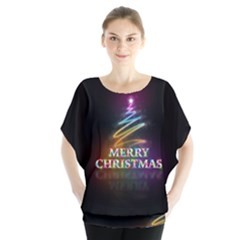 Merry Christmas Abstract Blouse