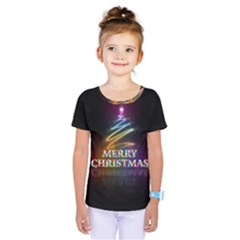 Merry Christmas Abstract Kids  One Piece Tee