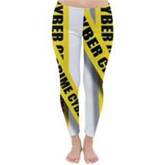 Internet Crime Cyber Criminal Classic Winter Leggings