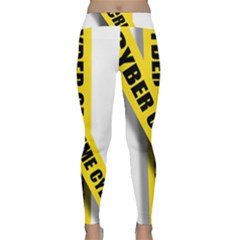 Internet Crime Cyber Criminal Classic Yoga Leggings