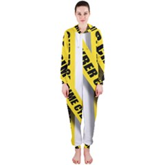 Internet Crime Cyber Criminal Hooded Jumpsuit (Ladies)