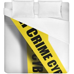 Internet Crime Cyber Criminal Duvet Cover (King Size)