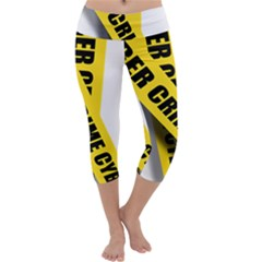 Internet Crime Cyber Criminal Capri Yoga Leggings