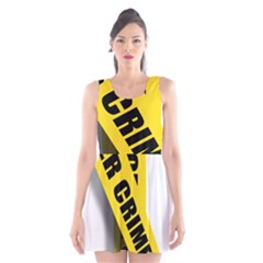 Internet Crime Cyber Criminal Scoop Neck Skater Dress
