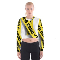 Internet Crime Cyber Criminal Women s Cropped Sweatshirt
