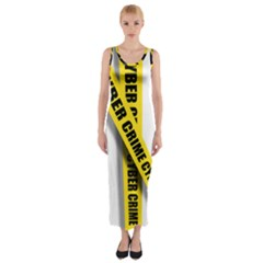 Internet Crime Cyber Criminal Fitted Maxi Dress