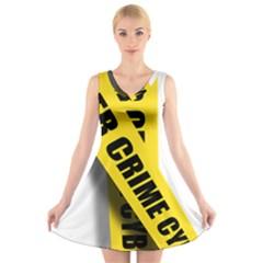 Internet Crime Cyber Criminal V-Neck Sleeveless Skater Dress