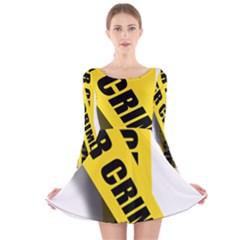 Internet Crime Cyber Criminal Long Sleeve Velvet Skater Dress