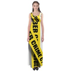 Internet Crime Cyber Criminal Empire Waist Maxi Dress