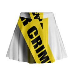Internet Crime Cyber Criminal Mini Flare Skirt