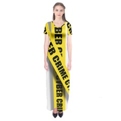 Internet Crime Cyber Criminal Short Sleeve Maxi Dress