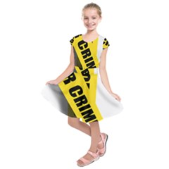 Internet Crime Cyber Criminal Kids  Short Sleeve Dress