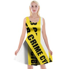 Internet Crime Cyber Criminal Reversible Velvet Sleeveless Dress