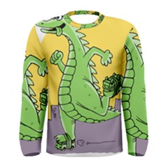 Godzilla Dragon Running Skating Men s Long Sleeve Tee