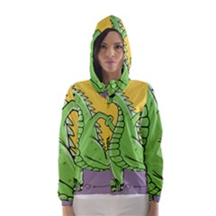 Godzilla Dragon Running Skating Hooded Wind Breaker (Women)