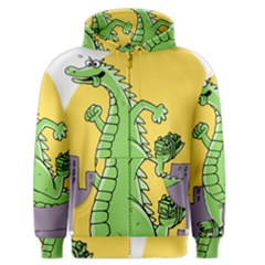 Godzilla Dragon Running Skating Men s Zipper Hoodie