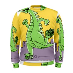 Godzilla Dragon Running Skating Men s Sweatshirt