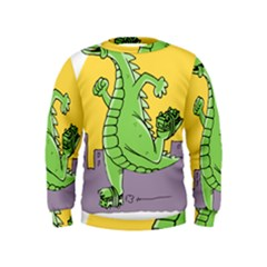 Godzilla Dragon Running Skating Kids  Sweatshirt