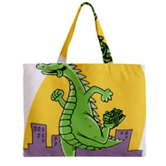 Godzilla Dragon Running Skating Zipper Mini Tote Bag