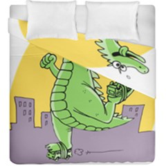 Godzilla Dragon Running Skating Duvet Cover Double Side (King Size)