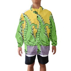 Godzilla Dragon Running Skating Wind Breaker (Kids)