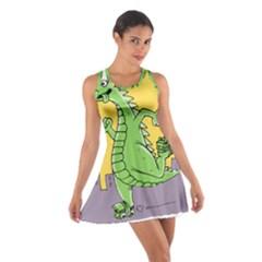 Godzilla Dragon Running Skating Cotton Racerback Dress