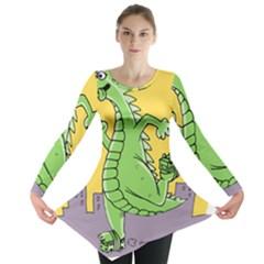 Godzilla Dragon Running Skating Long Sleeve Tunic