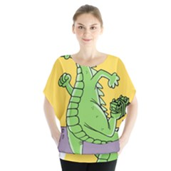 Godzilla Dragon Running Skating Blouse