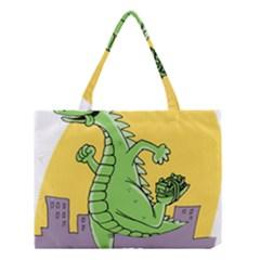 Godzilla Dragon Running Skating Medium Tote Bag