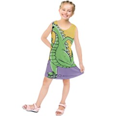 Godzilla Dragon Running Skating Kids  Tunic Dress