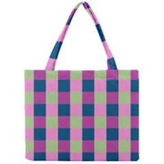 Pink Teal Lime Orchid Pattern Mini Tote Bag