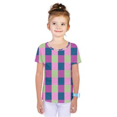 Pink Teal Lime Orchid Pattern Kids  One Piece Tee