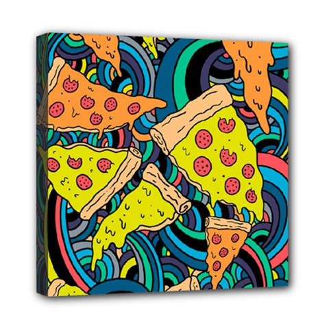 Pizza Pattern Mini Canvas 8  x 8