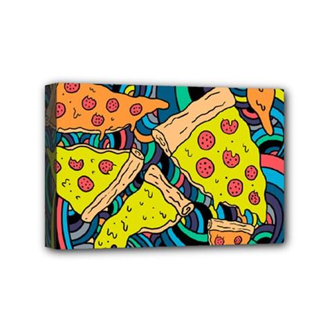 Pizza Pattern Mini Canvas 6  x 4