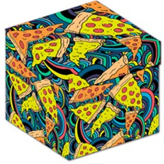 Pizza Pattern Storage Stool 12