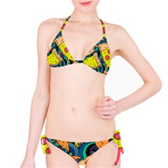 Pizza Pattern Bikini Set