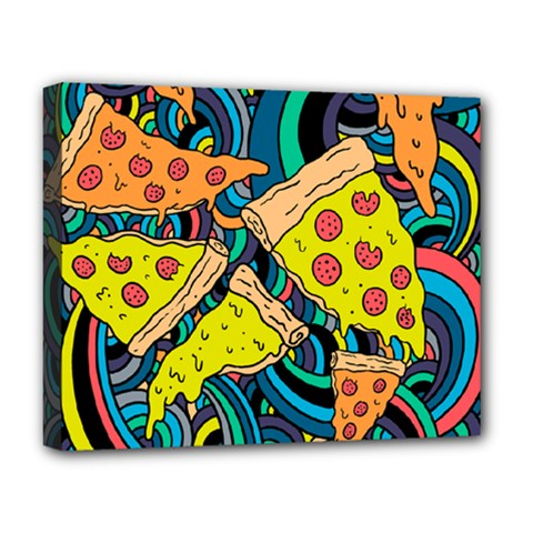 Pizza Pattern Deluxe Canvas 20  x 16