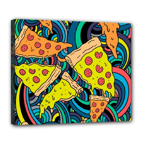 Pizza Pattern Deluxe Canvas 24  x 20