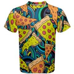 Pizza Pattern Men s Cotton Tee