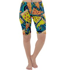 Pizza Pattern Cropped Leggings