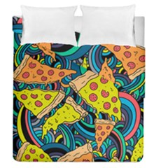 Pizza Pattern Duvet Cover Double Side (Queen Size)