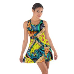 Pizza Pattern Cotton Racerback Dress