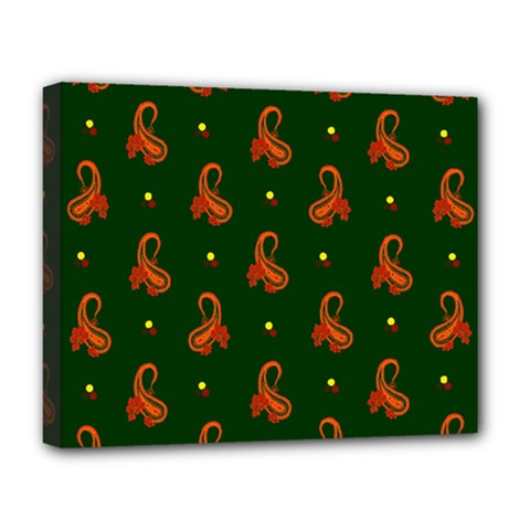 Paisley Pattern Deluxe Canvas 20  x 16