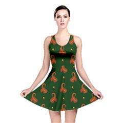 Paisley Pattern Reversible Skater Dress